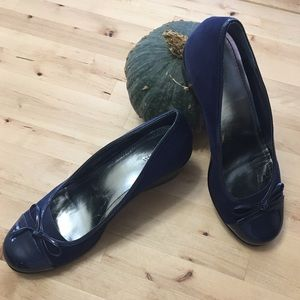Style & Co Shoes - Navy Cap-toe Wedges